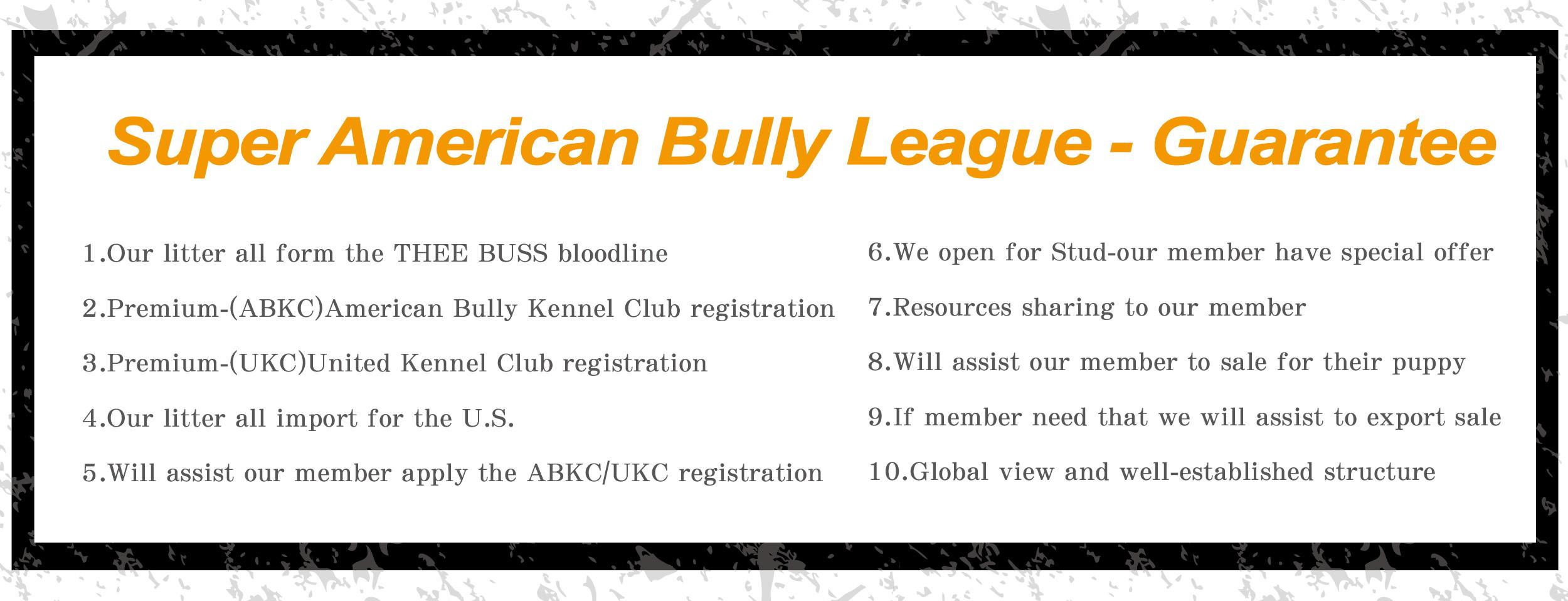 Super American Bully League-Guarantee – Super American Bully